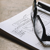 website discovery - wireframe