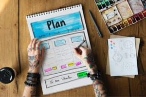 Successful website design projects have a plan
