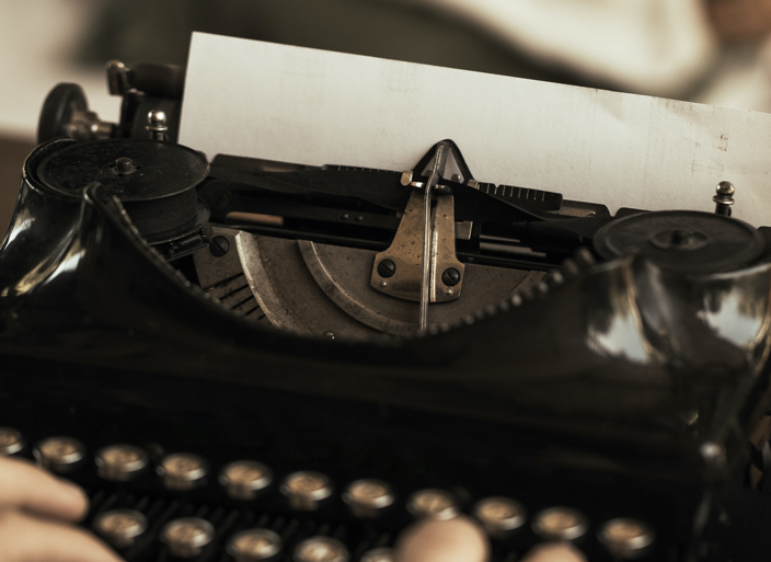long vs short copy - typewriter